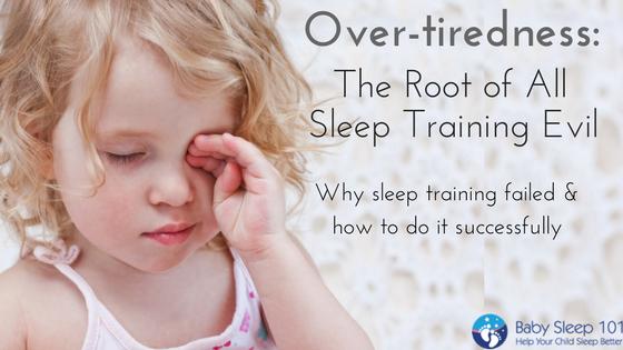 Overtiredness and sleep training